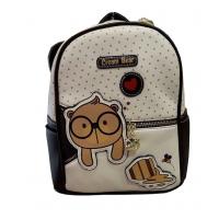 Τσάντα πλάτης Cream Bear C1010-4