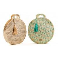 Verde ψάθινη τσάντα 48-0000099