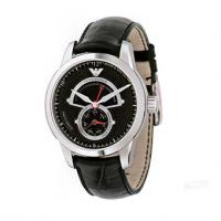 Emporio ARMANI Leather Strap Black Dial Automatic AR4612