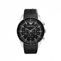 Emporio ARMANI Sportivo Black Rubber Strap Chronograph AR5985