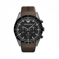 Emporio ARMANI Sportivo Brown Rubber Strap Chronograph AR5986