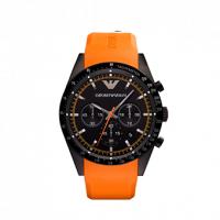 Emporio ARMANI Black Orange Rubber Chronograph AR5987