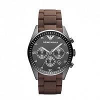 Emporio ARMANI Brown Rubber Bracelet Chronograph AR5990