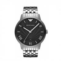Emporio ARMANI Black Dial Stainless Steel Bracelet  AR1614