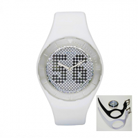 FOSSIL Atomic Box Set Digital White Dial and Rubber Strap  JR1210