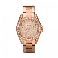 FOSSIL Riley Multifunction Rose Gold Stainless Steel Bracelet ES2811